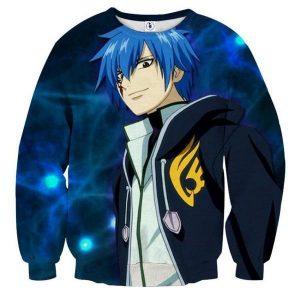 Fairy Tail Jellel Blue Fairy Tail Sweatshirt XXS Official Fairy Tail Merch