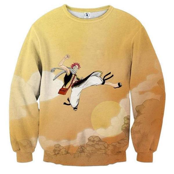 Fairy Tail Jumping Natsu Fairy Tail Sweatshirt XXS Official Fairy Tail Merch