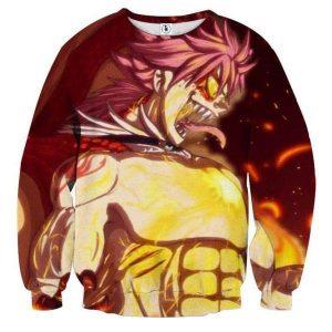 Fairy Tail Natsu Dragon Cry Fairy Tail Sweatshirt XXS Official Fairy Tail Merch