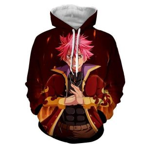 Fairy Tail Natsu Dragneel Karate Style Designed Hoodie XXS Official Fairy Tail Merch