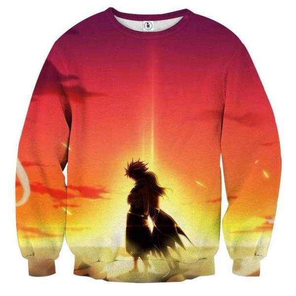 Fairy Tail Natsu Lucy Shadowed Fairy Tail Sweatshirt XXS Official Fairy Tail Merch
