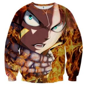 Natsu angry Face Fairy Tail 3D Printed Sweatshirt XXS Official Fairy Tail Merch
