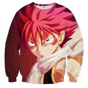 Fairy Tail 3D Printed Red Natsu Sweatshirt XXS Official Fairy Tail Merch