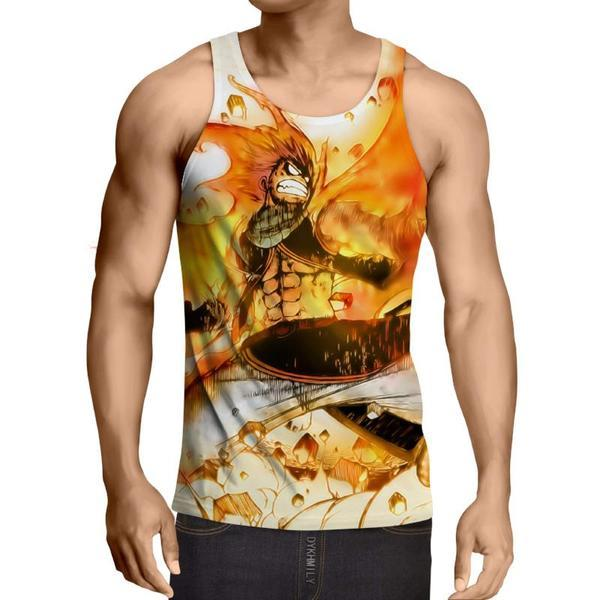 Fired up 3D Printed Natus Fairy Tail Tank Top XXS / Multi-color Official Fairy Tail Merch