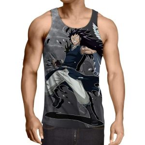 Gajeel Iron Dragon Style Fairy Tail Tank Top XXS / Multi-color Official Fairy Tail Merch