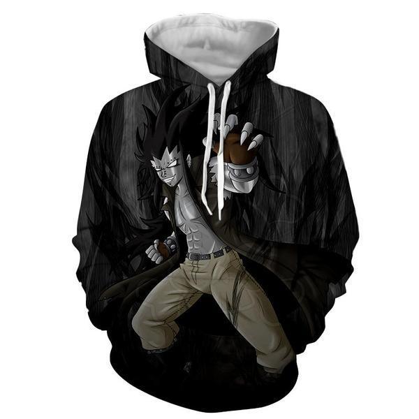 Gajeel Iron Black Dragon Slayer Dark Magic Fairy Tail Hoodie XXS Official Fairy Tail Merch