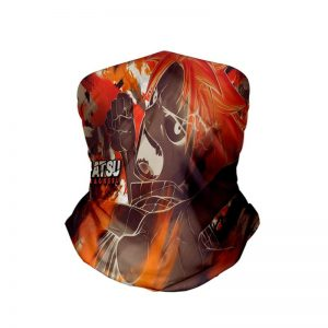 Natsu Dragneel Color Embossed Fire Fairy Tail Neck Gaiter Bandanna Scarf Fairy Tail Neck Gaiter Bandanna Scarf Default Title Official Fairy Tail Merch