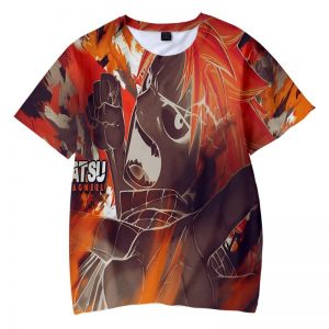 Natsu Dragneel Color Embossed Fire Fairy Tail T-shirt XXS Official Fairy Tail Merch