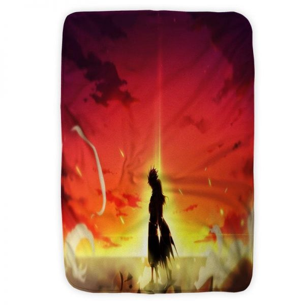 Natsu Dragneel Reversible Embossed Scenery Fairy Tail Blanket Small (30 x 40 in) Official Fairy Tail Merch