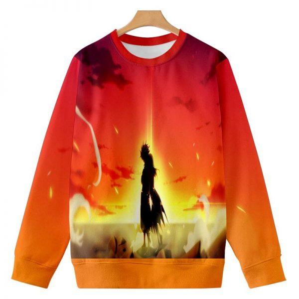 Natsu Dragneel Reversible Embossed Scenery Fairy Tail Sweatshirt XXS Official Fairy Tail Merch