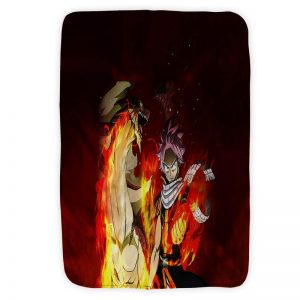 Natsu Igneel Premium Brushed Blanket Fairy Tail Blanket Small (30 x 40 in) Official Fairy Tail Merch