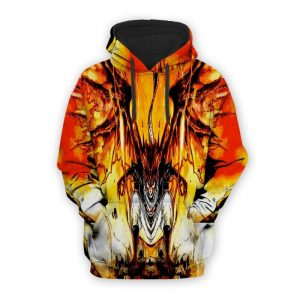 Natsu Dragneel Dragon Crossover Cool Fairy Tail Natsu Hoodie XXS Official Fairy Tail Merch