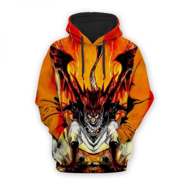 Natsu Dragneel The Fire Dragon Wings Fairy Tail Natsu Hoodie XXS Official Fairy Tail Merch
