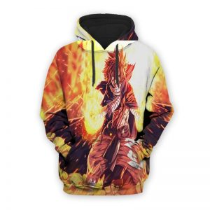 Fairy Tail Natsu Dragneel Yellow Blade 3D Printed Zip Up Hoodie XXS Official Fairy Tail Merch