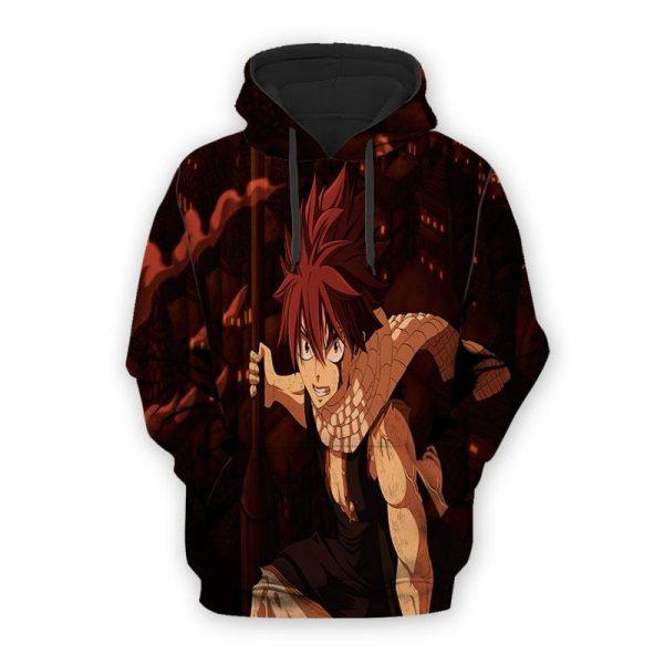 Fairy Tail Natsu Dragon Scarf 3D Printed Fairy Tail Hoodie XXS Official Fairy Tail Merch