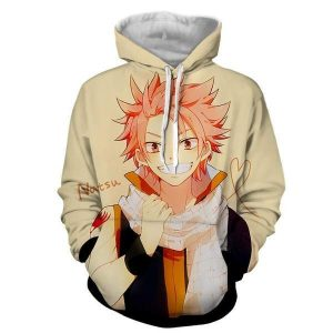 Natsu Designer Style Hip Hop 3D Printed Fairy Tail Zip Up Hoodie XXS Official Fairy Tail Merch