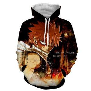 Natsu Black Dragneel 3D Printed Fairy Tail Hoodie XXS Official Fairy Tail Merch