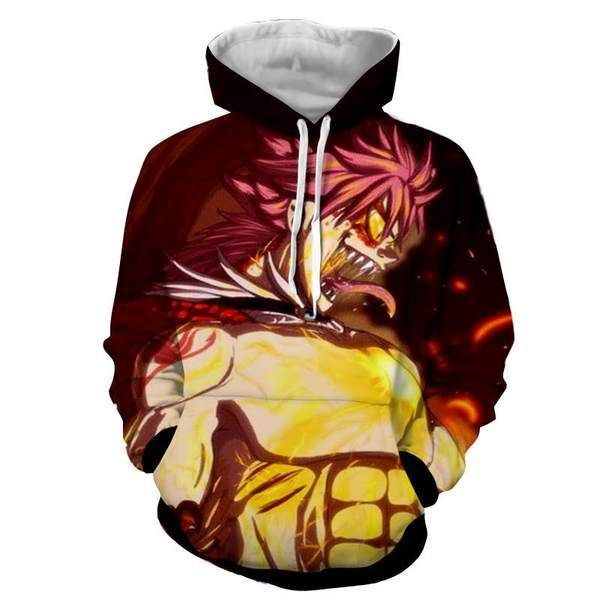 Natsu Son Of Dragon Dragneel Designed Fairy Tail 3D Printed Hoodie XXS Official Fairy Tail Merch