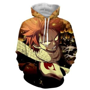 Ginger Designed Natsu Dragneel Fairy Tail 3D Printed Hoodie XXS Official Fairy Tail Merch