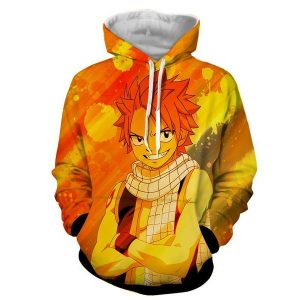 Natsu Yellow Designer 3D Printed Dragneel Fairy Tail Hoodie XXS Official Fairy Tail Merch