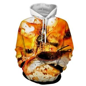 Natsu Fired Up Dragneel Fairy Tail 3D Printed Hoodie XXS Official Fairy Tail Merch