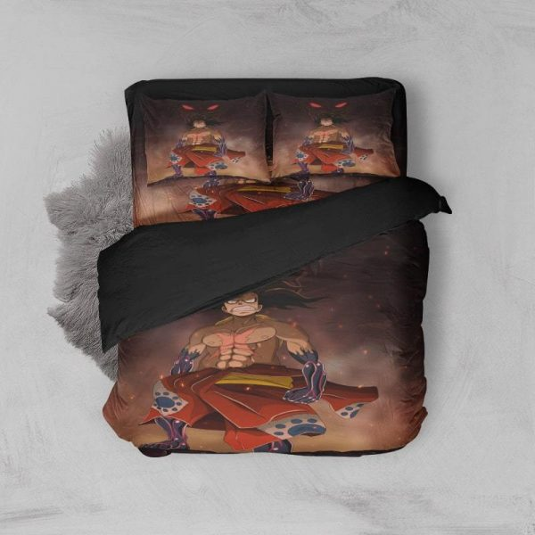 Natsu Monkey D.Luffy Crossover Soft Brushed Dragon Bedding Twin / Duvet Cover + Pillowcases Official Fairy Tail Merch