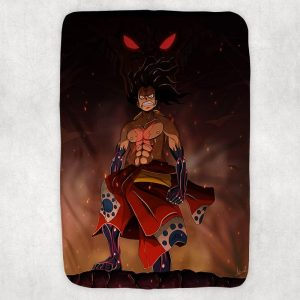 Natsu Monkey D.Luffy Crossover Soft Brushed Dragon Blanket Small (30 x 40 in) Official Fairy Tail Merch