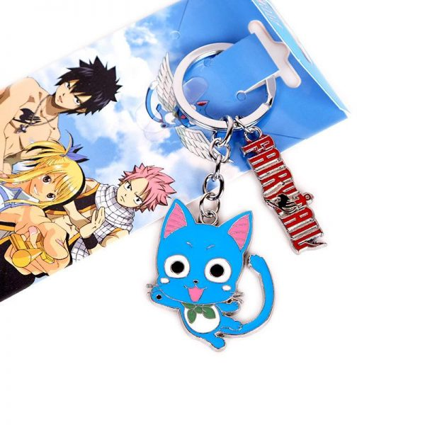 Fairy Tail Keychain フェアリーテイル Happy Default Title Official Fairy Tail Merch