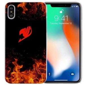 Flame Logo Fairy Tail iPhone Case フェアリーテイル Apple iPhones for iPhone 4 4s / Black Official Fairy Tail Merch