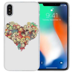 Heart Collage Fairy Tail iPhone Case フェアリーテイル Apple iPhones for iPhone 4 4s / Clear Official Fairy Tail Merch