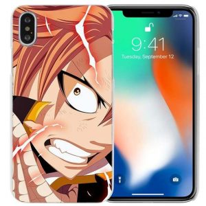 Natsu Close Up Fairy Tail iPhone Case フェアリーテイル Apple iPhones for iPhone 4 4S / Multicolor Official Fairy Tail Merch