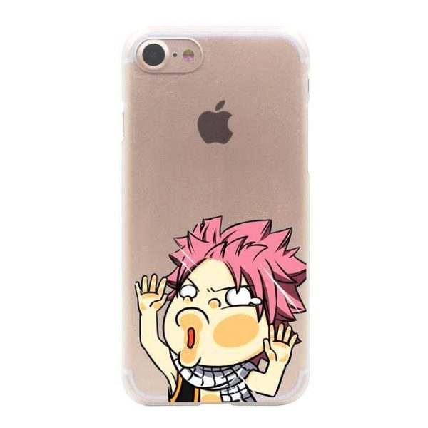 Natsu Fairy Tail iPhone Case フェアリーテイル Apple iPhones for iPhone 7 Plus / Clear Official Fairy Tail Merch