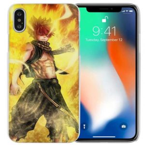 Natsu Flame Fairy Tail iPhone Case フェアリーテイル Apple iPhones for iPhone 4 4s / Yellow Official Fairy Tail Merch