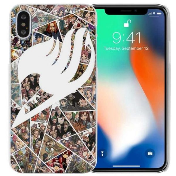 Shatter Logo Fairy Tail iPhone Case フェアリーテイル Apple iPhones for iPhone 4 4s / Multicolor Official Fairy Tail Merch