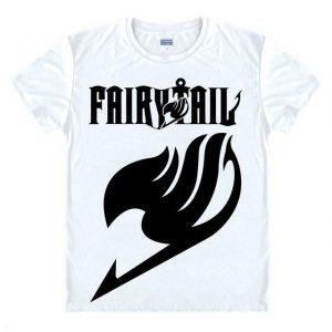 Fairy Tail Shirt フェアリーテイル Logo & Emblem Asian M / White Official Fairy Tail Merch