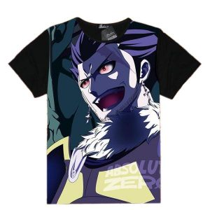 Fairy Tail Shirt フェアリーテイル Silver Fullbuster Asian M / Black Official Fairy Tail Merch
