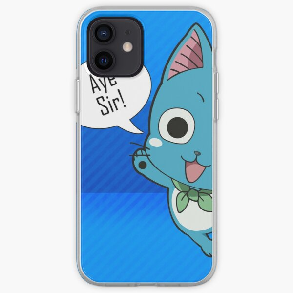 fairy tail - happy iPhone Soft Case RB0607 product Offical Fairy Tail Merch