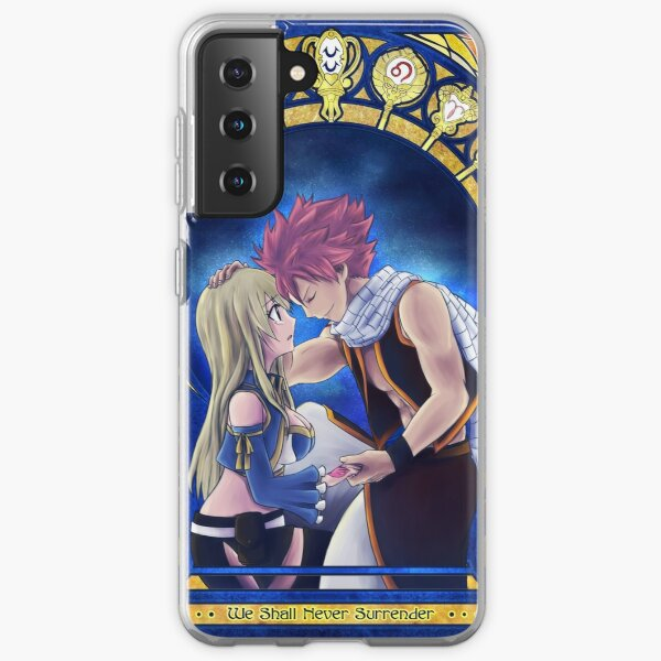 Natsu and Lucy Samsung Galaxy Soft Case RB0607 product Offical Fairy Tail Merch