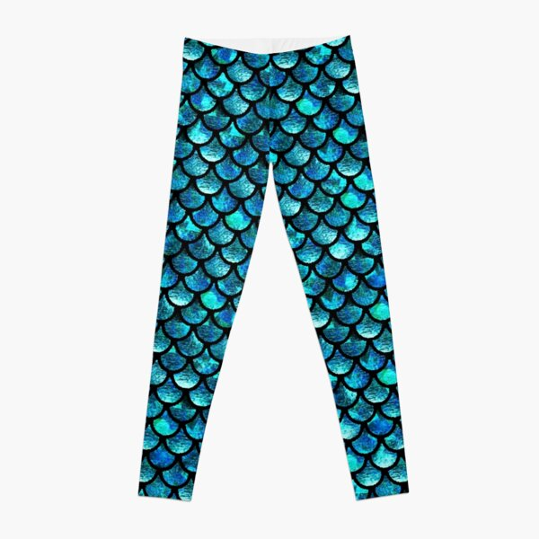 Mermaid Scales - Turquoise Blue Leggings RB0607 product Offical Fairy Tail Merch