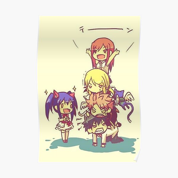 Chibi Fairy Tail Poster RB0607 product Offical Fairy Tail Merch