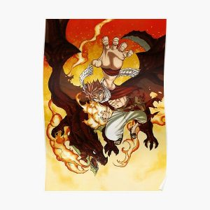 Natsu dragneel Poster RB0607 product Offical Fairy Tail Merch