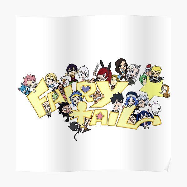 Chibi fairy  Poster RB0607 product Offical Fairy Tail Merch