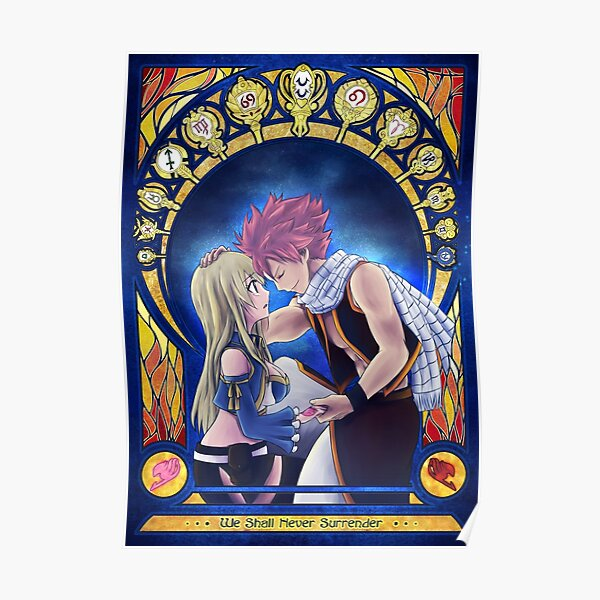 Natsu and Lucy Poster RB0607 product Offical Fairy Tail Merch