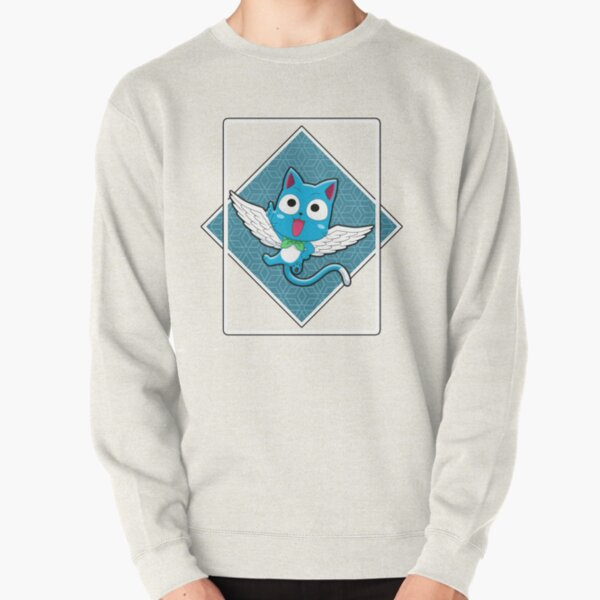 HAPPY IN THE BLUE BOX Pullover Sweatshirt RB0607 product Offical Fairy Tail Merch