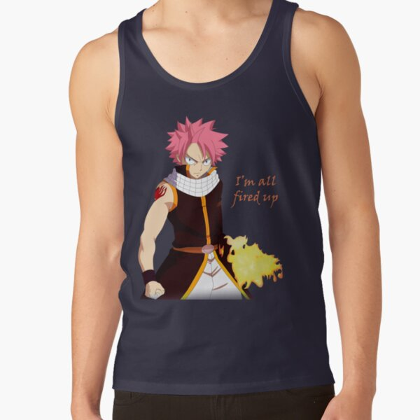 Natsu Fired Up Tank Top RB0607 product Offical Fairy Tail Merch
