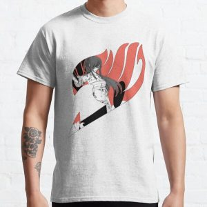 Erza Scarlet Fairy Tail Logo Classic T-Shirt RB0607 product Offical Fairy Tail Merch
