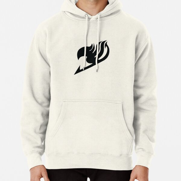 Fairy Tail logo, handmade, black and white Pullover Hoodie RB0607 product Offical Fairy Tail Merch