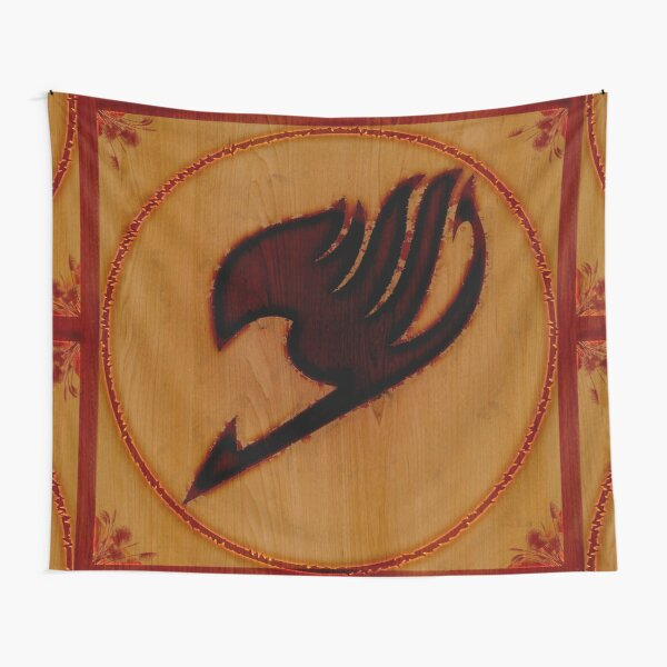 Wood Burned Fairy Tail Guild Insignia  Tapestry RB0607 product Offical Fairy Tail Merch