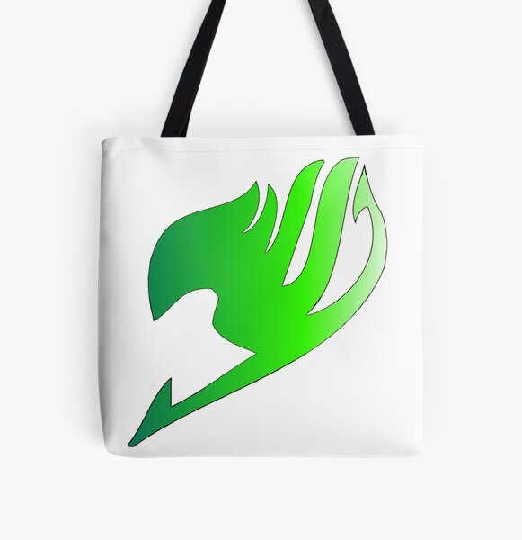 Fairy Tail Green fade symbol All Over Print Tote Bag RB0607 product Offical Fairy Tail Merch