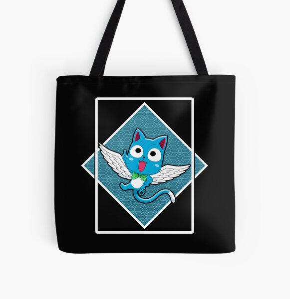 HAPPY IN THE BLUE BOX All Over Print Tote Bag RB0607 product Offical Fairy Tail Merch